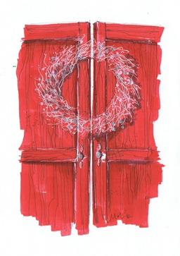 cards 2010 christmas red door MMID