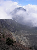The cone of Pangrango from Gede summit (Daniel Quinn, June 2009)