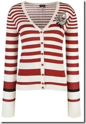 Armani Jeans Striped Sequin Cardigan