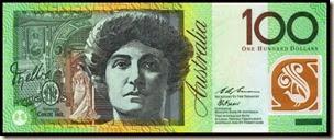Australian $100 bank note