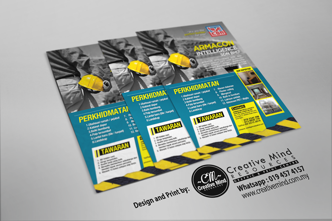 ARMACON CONSTRUCTION FLYERS DESIGN MOCKUP