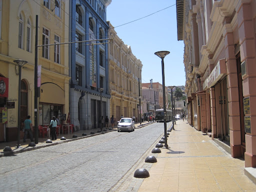 "A street near ""El Puerto"" in downtown Valparaiso."