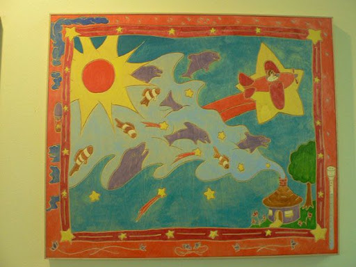 untitled, by Brenda Baker... Medium: painting/carving... Location: south (Children's Section)