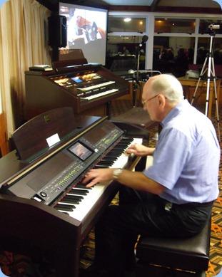 Alan Dadson giving a mini concert on the Clavinova CVP-50