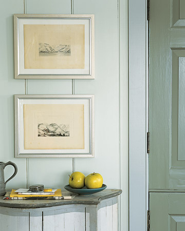 Pictures in high-traffic areas, such as halls and entryways, often end up askew. Remedy this with self-adhesive Velcro tabs in 1/4- or 1/2-inch sizes.