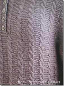Top Down Sweaters Cable Love Henley