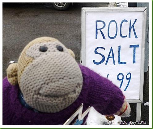 Rock salt...