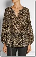 Tamara Mellon Leopard Print Blouse