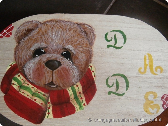 scatola orsetto dipinto