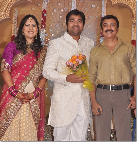 Actor Mohan at Mirchi Shiva Wedding Reception Photos
