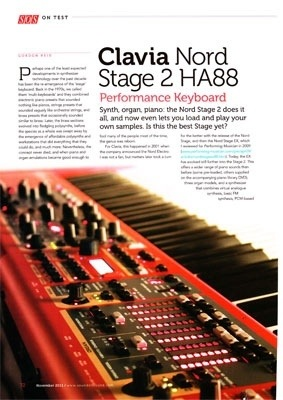 Nord Stage 2 HA88 Digital Piano Review