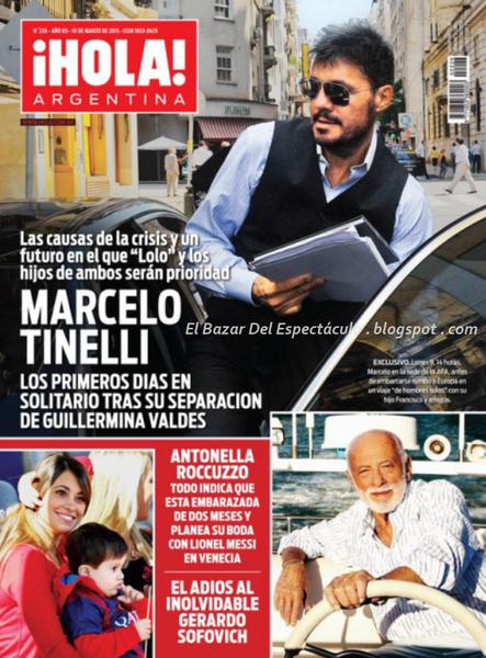 Marcelo tinelli separado en revista hola argentina 11 for Revistas del espectaculo