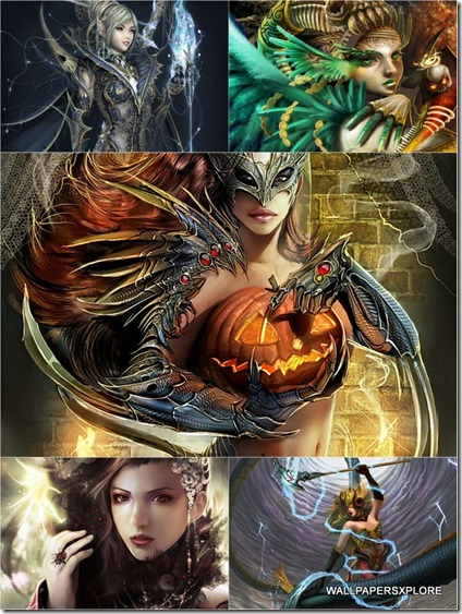 30 Sexy Fantasy Mythical Girls 3D Wallpapers { SET 16 }