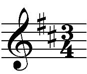 3/4 time signature
