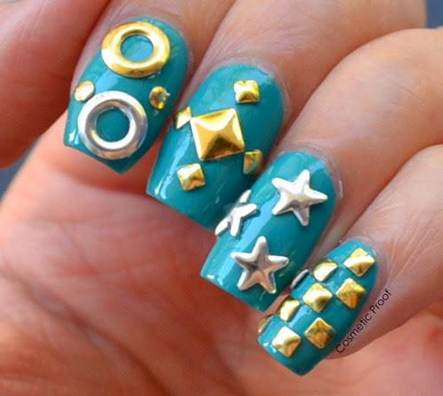Rita Ora Inspired Stud Nail Art