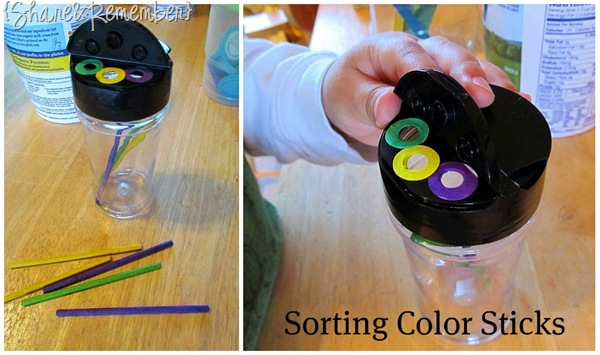 Sorting Color Sticks