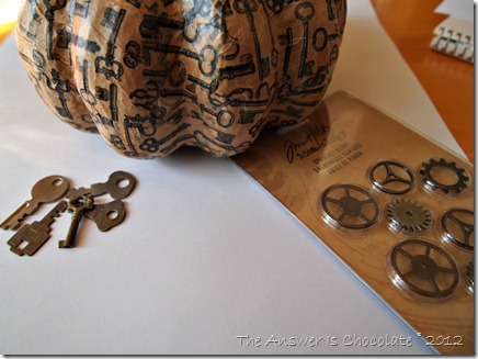 Tim Holtz Gears Pumpkin