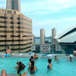 rooftop pool party after WORLD CUP 2014 in Toronto, Ontario, Canada