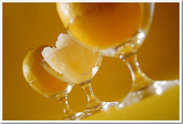 Sorbet cytrynowy na lekkim piwie