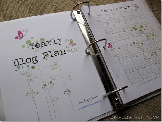 simpleispretty.com: Blog Planner