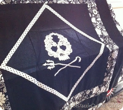 Skull and cross bones quilt