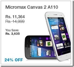 micromax canvas 2A110