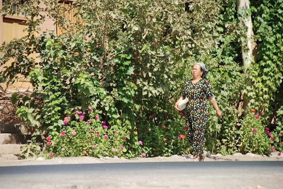 Turfan - Putaogou femme fleurie