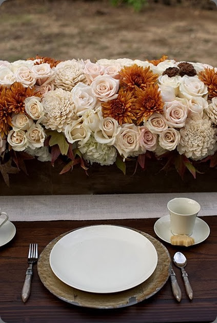 fall Pumpkin Floral Centerpiece heavenly blooms