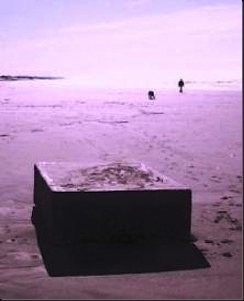 Strange, odd, box, boxes, metal, beach, beaches, found, UFO, UFOs, sigting, sightings, alien, aliens, ET, 2012, feb, february, news, top secret, invasion, HAARP, disclosure, AnonmaskoABraysbox