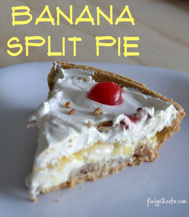 No-Bake Summer Desserts - Banana Split Pie
