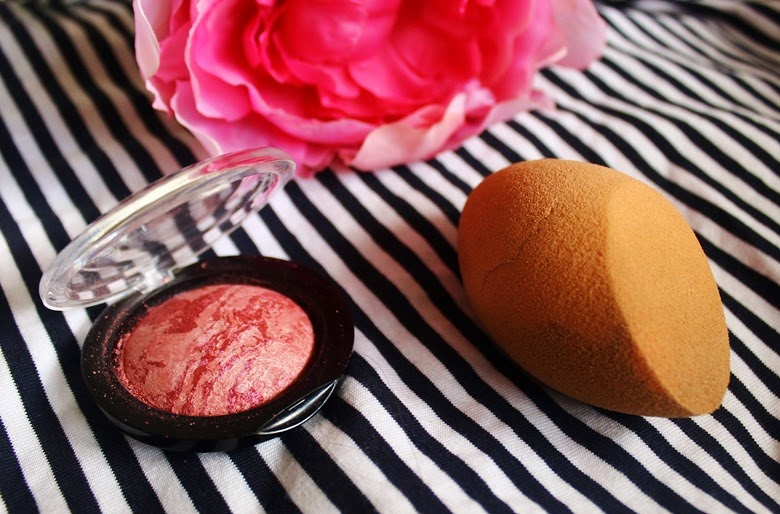 makeup revolution baked blush real techniques sponge