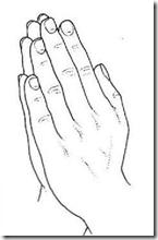 Gesto de Manos durante la oración