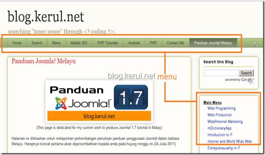 menu Joomla! 1.7 - menu kerul.net