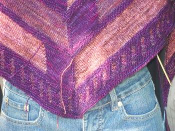 Mystery shawl border
