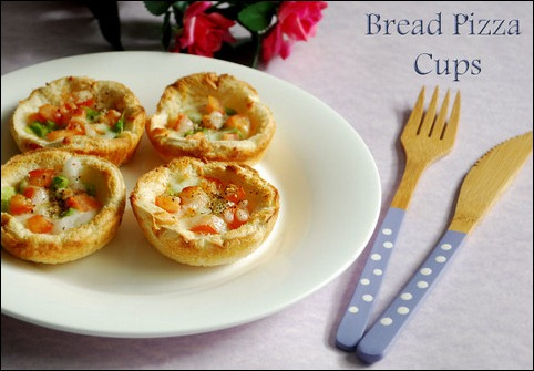 Bread pizza cups