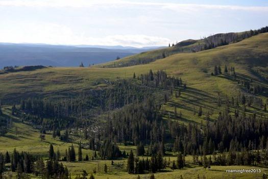 Beautiful mountainsides