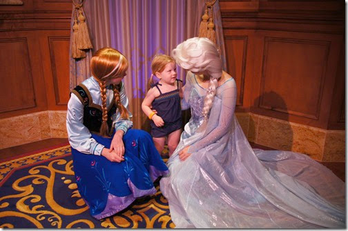 Disney - Meeting Anna and Elsa and the Magic Kingdom