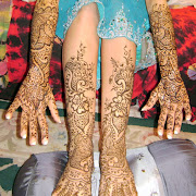 Henna Design on Bride with peacocks. Mehndi by Jumana of Hennadesigner.com