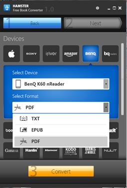 ฟรีโปรแกรม hamstr ebook converter