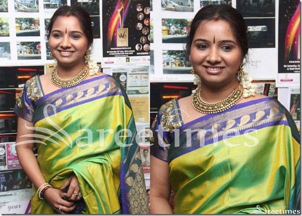 Mahathi_Green_Silk_Sari