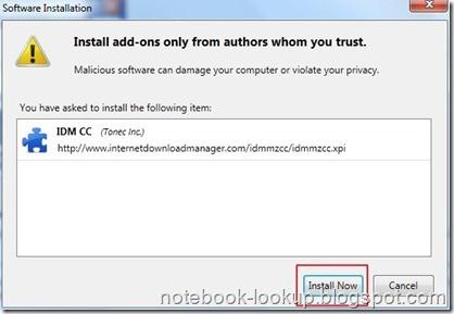 แก้ปัญหา Internet Download Manager ใช้งานกับ Firefox 4 และ Firefox 5 ไม่ได้