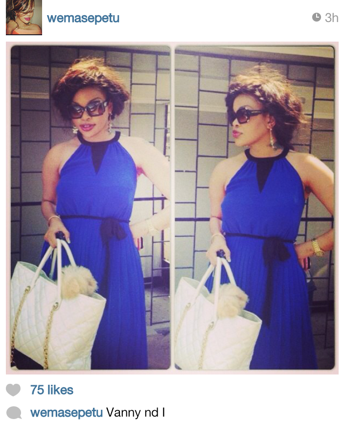 Wema Sepetu out and about with her new baby as she shared in instagram