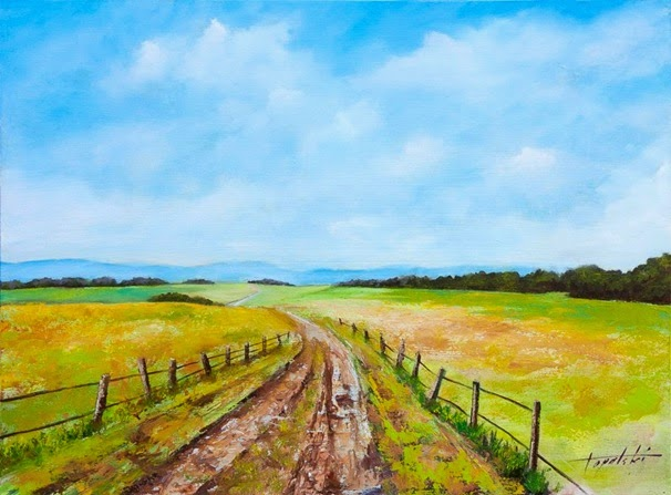 Through-the-Country-Fields-Oil-Painting