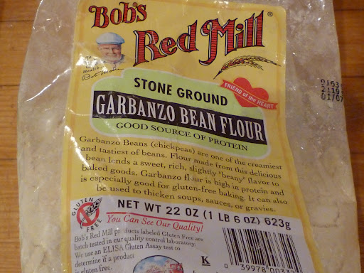 Garbanzo bean or chickpea flour-or besan in Indian markets