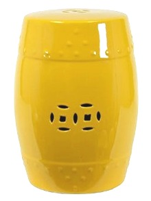 yellow chinese ceramic garden stool