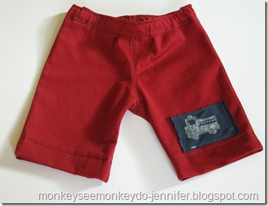 boys' fire truck shorts. DIY (23)