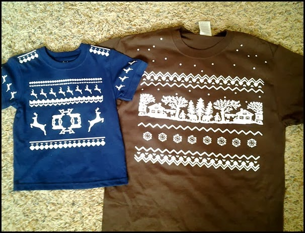 DIY vintage Christmas shirts