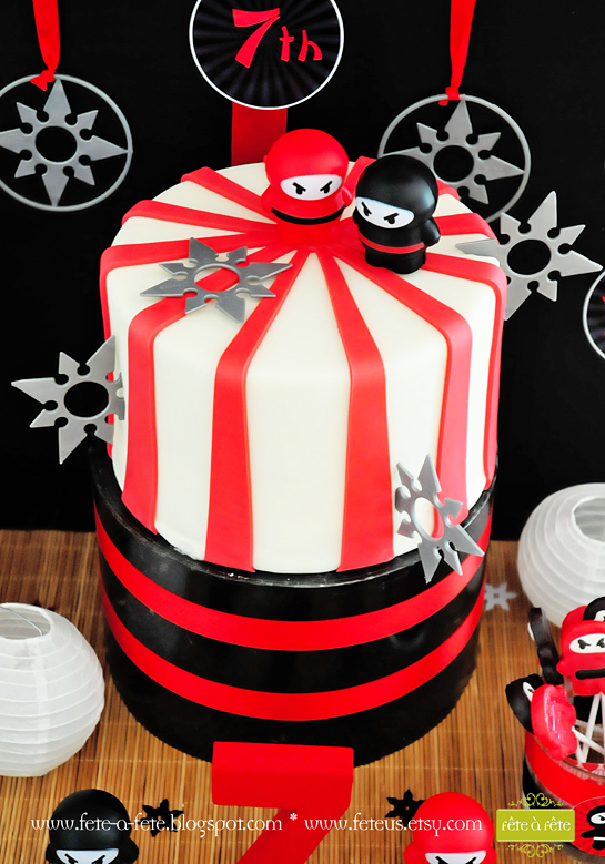 ninja-starburst-cake---Ninja-Party-by-Fete4