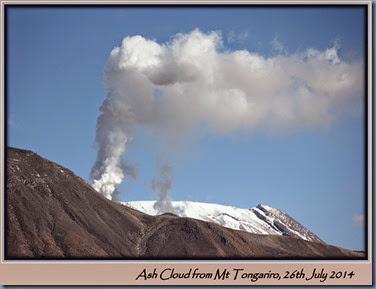Ash  Plume from Mt Tongariro