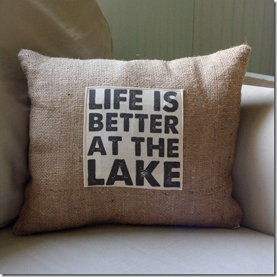 life is better at the lake pillow  1